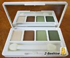 New Clinique All About Shadow Quad Safari Lemongrass Buttered Toast Duo Brush