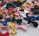 60PCS Small Satin Ribbon Bows Flower Appliques Sew Craft Kids Cloth Lots Upick