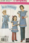 Daisy Kingdom Simplicity 3701 Misses / Child's Aprons Sewing Pattern Uncut