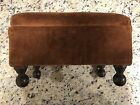 Vintage Antique 1920's Upholstered Foot Stool with Secret Compartment