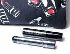 SEPHORA 3pc SET ROUGE INFUSION LIP STAIN Peony MAKE UP FOR EVER MASCARA MUFE BAG