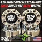8 X 65 TO 8 X 170 WHEEL ADAPTERS  SPACERS  PUT FORD WHEELS ON CHEVY 15 INCH