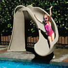 SR Smith Right Curve Cyclone Inground Swimming Pool Slide Taupe 698 209 58110