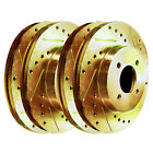 FRONTREARGold Hart Cross Drilled Slotted Brake Rotor Kits GHCC4403501