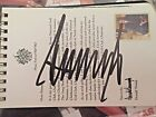 Trump National yardage book Autograph Signed By Donald Trump JSA