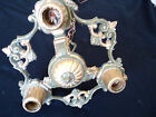 VTG ART DECO CEILING CHANDELIER FIXTURE-READY TO INSTALL- GOR. MUTED SAGE GREEN