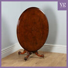 Antique Victorian Burr Walnut Inlaid Marquetry Oval Breakfast Dining Loo Table