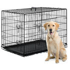 42 2 Doors Pet Folding Suitcase Dog w Divider Cat Crate Cage Kennel w Tray LC