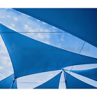 Blue Right Triangle Sun Shade Sail Fabric Cover Patio Pool Awning Garden Canopy
