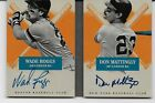 2013 13 PANINI AMERICAS PASTIME WADE BOGGS & DON MATTINGLY HITTERS INK AUTO 1 5