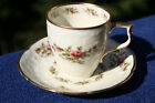 Vintage Rosenthal Tea Cup Embossed Design Moss Rose Off Bone White  w/Gold Trim