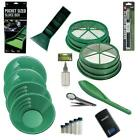 SS2 11pc Green Large Gold 1 2  1 8 Classifier Screen  Gold Pan Panning Kit
