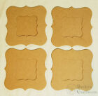 Bare Chipboard 4 1 4 Mini Bracket Frame with mat 4 sets 8 pieces