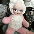 Vintage Faynee DollFace plush Oil Cloth Face Doll Face Pink Push Body 1930~40 ?