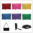 NEW Women Clutch Evening Large Envelope Handbag Real Suede Leather Shoulder Bag