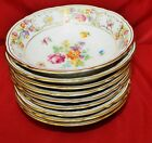 9 Schumann Bavaria Germany US Zone Empress Dresden Flowers Coupe Bowls
