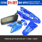 For Yamaha PW50 PY50 PW 50 BLUE Plastic Fender Fairing Body Seat Gas Tank Kit
