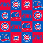 Chicago Cubs MLB Block Fleece 60 Fabric Sold by the Yard