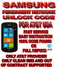 UNLOCK CODE ATT USA Samsung Focus 2 Samsung Rugby Smart OUT OF CONTRACT ONLY