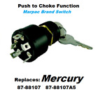 Boat Ignition Key Switch Push to Choke Mercury Outboard OFF ON START 6 Terminals
