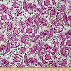 By 1 2 Yard Free Spirit Tula Pink Fabric Chipper Wild Vines Raspberry floral