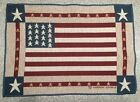 American Flag Colonial Tapestry Placemat by Artist Warren Kimble