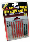 10 PIECE JIGSAW BLADE SET FITS BLACK AND DECKER SKIL UK 10 PIECES BLADES