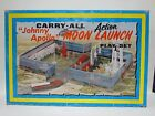 VTG Marx 1970 Tin Litho Carry All Action Johnny Apollo Moon Launch Play Set 4630