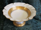 LIMOGES FRANCE 14 KARAT GOLD FILIGREE PORCELAIN  BOWL VALENTINE