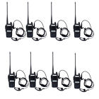 8Pcs Baofeng BF-UV82 Walkie Talkie UHF+VHF 5W 128CH Monitor Scan 2-Way Radio