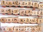 SUO STAMPIN UP BRUSHSTROKE ALPHABET WOOD SET OF 56 DBL MTD STAMPS RET