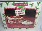 Fitz & Floyd Christmas Deck the Halls Small Bowl with Lid and Box