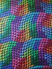 Colorworks Concepts Rainbow Triangle Wave Northcott Fabric Yard
