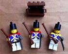 LEGO Imperial Navy Minifgs Pirate Blue Coat Sword Musket Treasure Chest