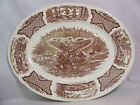Alfred Meakin Staffordshire England Fair Winds Platter* Eagle* Brown* Wall St