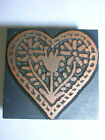 Vintage Printers block Heart Stamp Stationary #DIY Design