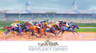 KENTUCKY DERBY 2015 Churchill Downs OFFICIAL EVENT POSTER Horse Racing Action
