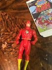 Vintage 1984 Kenner Super Powers THE FLASH Complete w Comic  12 Back Card