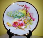 Co. Bavaria Fruit Design Plate With Gold Trim German  8
