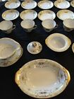 Vintage Kongo  STS KON1 China Set Gold Scrollwork Excellent Condition