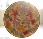 NUMBERED CHINESE HAND-PAINTED ENAMELED PORCELAIN LEAF DECOR PLATE