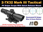 NCStar STP2732GV2 MARK III Tactical GEN II 2 7x 32mm P4 Scope Free Shipping