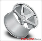 "20"" BLAQUE DIAMOND BD21 SILVER STAGGERED WHEELS RIMS FITS PORCHE PANAMERA GTS"