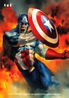 1996 Marvel Masterpieces Double Impact #4 CAPTAIN AMERICA NM Extremely Rare!