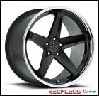 20 BLAQUE DIAMOND BD21 BLACK CONCAVE WHEELS RIMS FITS LEXUS IS250 IS350