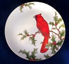 Fitz and Floyd Christmas Holly Cardinal Plate - Style 1