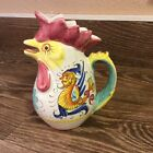 Williams Sonoma deruta style chicken/rooster  pitcher made in Italy