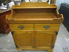 Vintage Ethan Allen Maple Wood  Dry Sink Counter and Cabinets Cupboard Storage