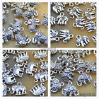 20pcs Tibetan Silver Elephant Charms Pendants Beads Fit Bracelet Jewelry Making