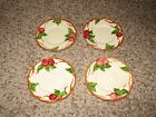 Vintage Franciscan China Apple Pattern Set of 4 Bread Plates USA Made!!!